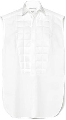 Bottega Veneta Sleeveless Tuxedo Shirt