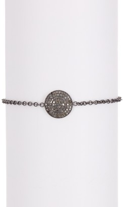 Forever Creations Usa Inc. Sterling Silver Diamond Disc Bracelet - 1.00 ctw