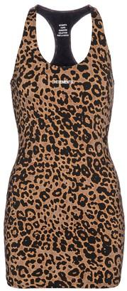 Vetements Leopard-print stretch-jersey minidress