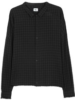 Chapter Frit Checked Linen Blend Shirt