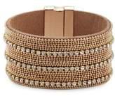 Noir Sparkle Rhinestone-Studded Bracelet
