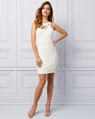 Le Château Sparkle Knit Illusion Cocktail Dress