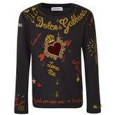 Dolce & Gabbana Children Girls Amore Long Sleeved T Shirt