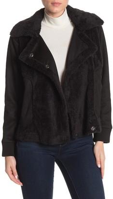 Democracy Fleece Lined Faux Fur Moto Jacket
