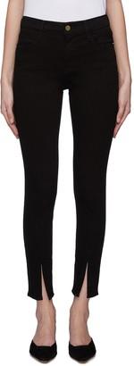 Frame 'Le High Skinny' split cuff jeans