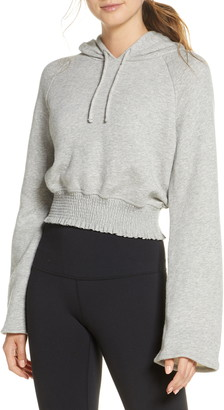 Beyond Yoga Let's Smock About It Crop French Terry Hoodie