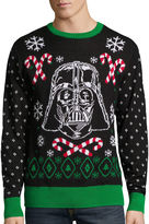 NOVELTY SEASON Novelty Season Crew Neck Long Sleeve Star Wars Cotton Blend Pullover Sweater
