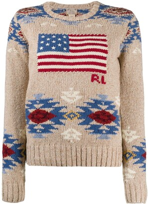 Polo Ralph Lauren Intarsia-Knit Crew Neck Jumper