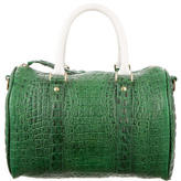 Clare Vivier Embossed Leather Duffle Bag