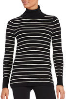 French Connection Striped Turtleneck Pullover