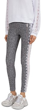 The Kooples Sweet Lace Detail Skinny Sweatpants
