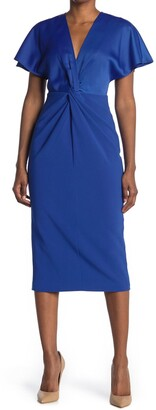 Ted Baker Ellame Two-Tone Sheath Midi Dress