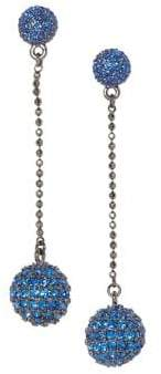 Vince Camuto Pave Crystal Disco Ball Drop Earrings