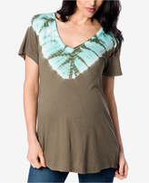 Splendid Maternity Tie-Dyed T-Shirt