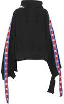 Vetements Champion Cotton-blend Jersey Hooded Top - Black