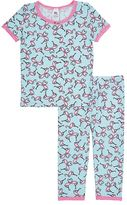 Esme Flamingo-Print Cotton-Blend Pajama Set