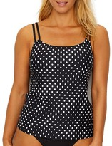 Sunsets Black Dot Taylor Underwire Tankini Top