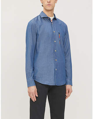 Paul Smith Embroidered Soho-fit denim shirt