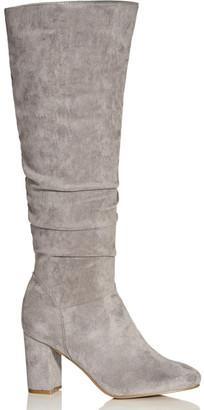 City Chic Petra Knee Boot - grey