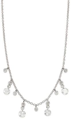 Meira T Diamond & 14K White Gold Necklace