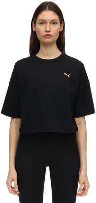 Puma Select Evide Form Stripe Crop T-shirt