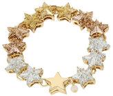 Betsey Johnson Confetti Goldtone Glitter Star Magnetic Bracelet