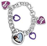 Justin Bieber Charm Bracelet Watch With Heart Charms