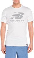 New Balance White Logo Tee