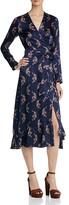 Sandro Kravitz Printed Silk Wrap Dress