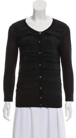 DKNY Silk Cardigan Sweater