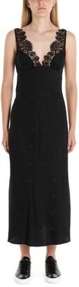 McQ Lace Detail Midi Dress