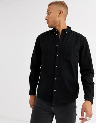 Bershka shirt in washed black