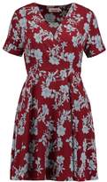 Louche JELENA FLORAL Summer dress burgundy/blue