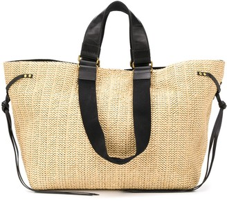 Isabel Marant Magnetic Fastening Straw Tote