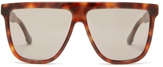 Gucci Oversized Flat-top Acetate Sunglasses - Womens - Tortoiseshell