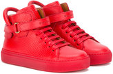 Buscemi Kids - straped hi-top sneakers - kids - Leather/rubber - 26