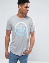 Hollister Large Logo T-Shirt Slim Fit In Grey Marl