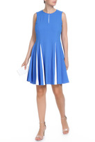 Taylor Jewel Neck with Keyhole Crepe Dress 7088M