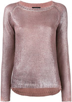 Avant Toi metallic sweater - women - Linen/Flax - M