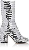 Maison Margiela Women's Paillette-Embellished Mid-Calf Boots
