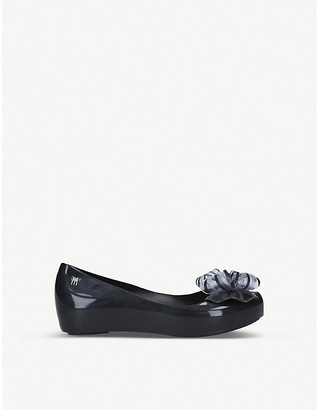 Mini Melissa Ultragirl double bow ballerina flats