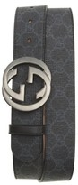 Gucci Men's Interlocking G Buckle Supreme Canvas Belt