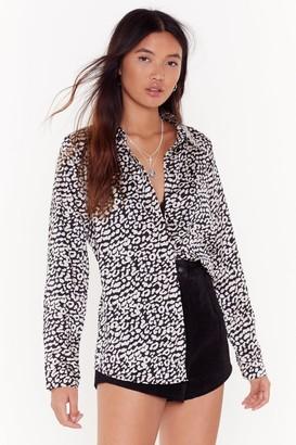 Nasty Gal Womens Wild World Leopard Shirt - Black - S