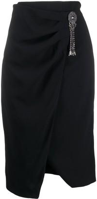 Pinko Studded Detail Front Slit Skirt