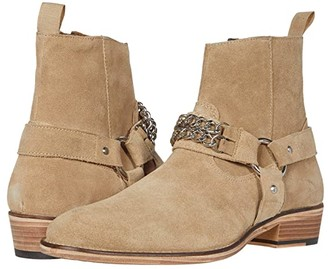 Walk London Russel Chain Boot (Stone Suede) Men's Boots