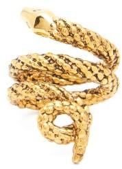 Aurelie Bidermann Asclepios Gold-plated Snake Ring - Gold