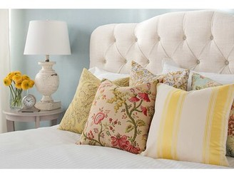Skyline Furniture Lauryn Tufted Upholstered Headboard Size: Twin, Color: Antique White