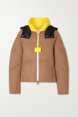 MONCLER GENIUS 1 Jw Anderson Stonory Hooded Quilted Wool And Shell Down Jacket - Brown