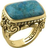 Barse Women's Genuine Turquoise Ring RING09T01