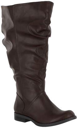 Easy Street Shoes Womens Peak Plus Block Heel Riding Boots